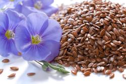 Семена льна с противоотечным эффектом